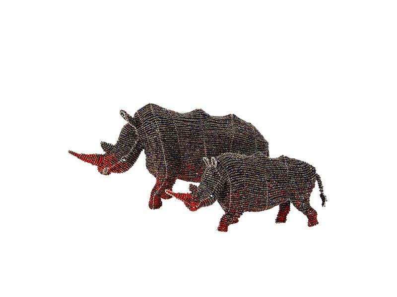 Small Locked Horn Rhino