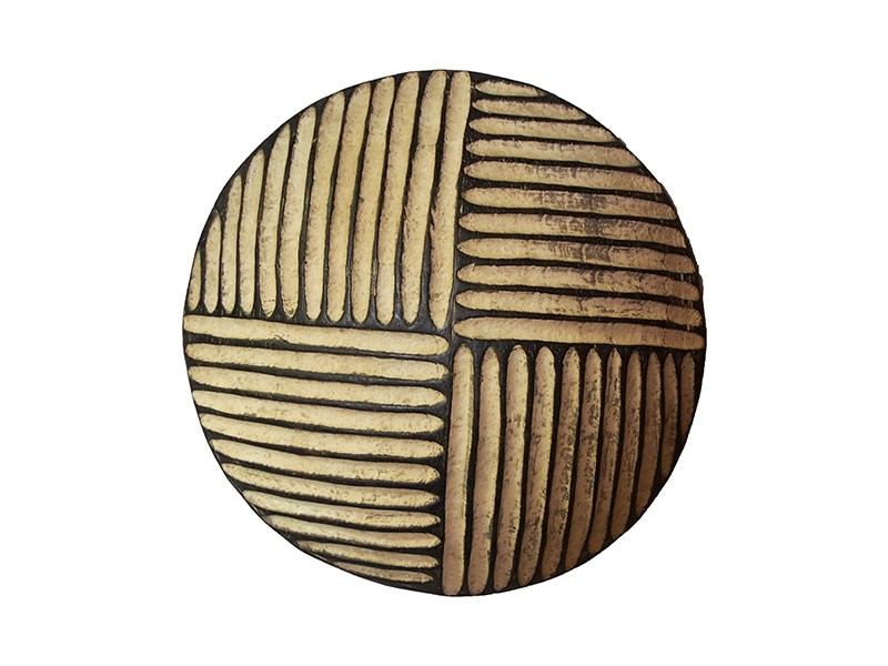 African Creative :: Small Carved Wood Shield - Quatered