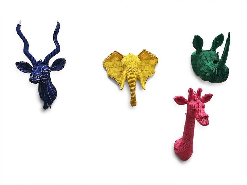 Colourful Rope Mini Animal Set