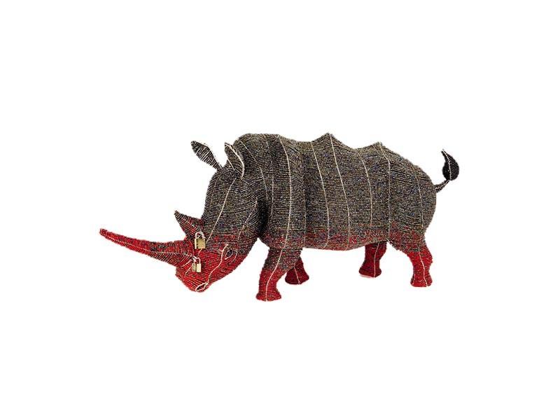 Locked Horn Rhino Adult